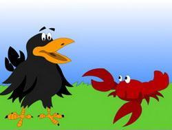 Сказка Ворона и рак  читать с картинками онлайн сказка о животных