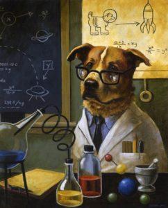 Сказка о собаке - Ученая собака - с картинками читать онлайн