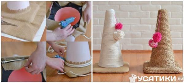 Мастер-класс по созданию когтеточки  как сделать, схема, фото - Это интересно