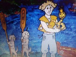 Сказка о собаке - Змей, кошечка и пес - с картинками читать онлайн
