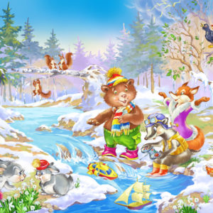 Сказка «Весна в лесу» про время года, погоду для детей