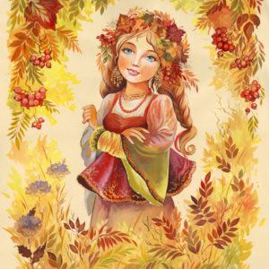 Сказка «Модница Осень» о явлениях природы, погоде для детей